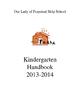 Kindergarten Teacher Starter Pack/ Editable