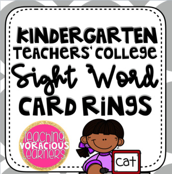 Kindergarten Teachers' College Sight Word Ring Cards