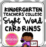 Kindergarten Teachers' College Sight Word Ring Cards