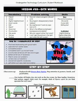 Kindergarten Technology Curriculum: 32 Lessons