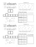 Kindergarten Teen Number Book