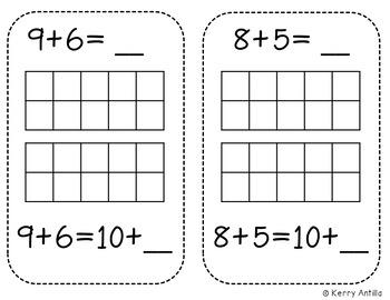 Interactive Kindergarten Math Journal: Teen Numbers