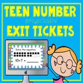 Kindergarten Teen Number Projectable Exit Tickets (K.NBT.1)