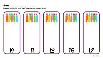 Kindergarten Teen Number Practice