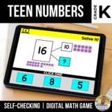 Kindergarten Teen Numbers Digital Math Games | Distance Learning