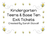 Kindergarten Teens & Base Ten Exit Tickets