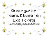 Kindergarten Teens & Base Ten Exit Tickets