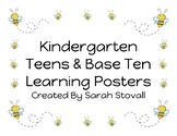 Kindergarten Teens & Base Ten Learning Posters