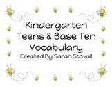 Kindergarten Teens & Base Ten Vocabulary