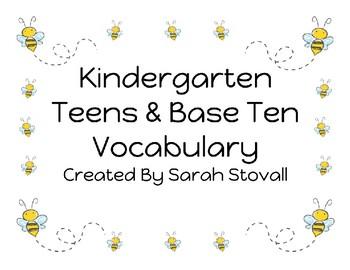 Kindergarten Teens & Base Ten Vocabulary
