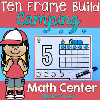 Kindergarten Ten Frame Activities - Camping