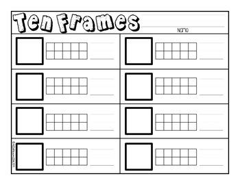 Kindergarten Ten Frames
