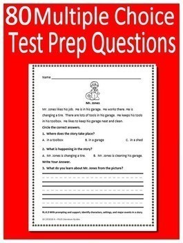 Kindergarten Reading Comprehension Passages and Questions - Close Reading