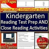 Kindergarten Reading Comprehension Passages and Questions - Close Reading Bundle