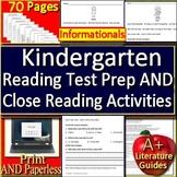 Kindergarten Test Prep for Reading AND Kindergarten Close Reading Activities