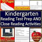 Kindergarten Reading Comprehension Informationals + Kindergarten Close Reading