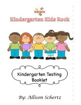 Kindergarten Testing Booklet