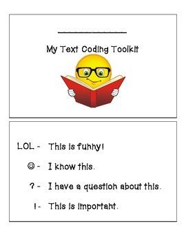 Kindergarten Text Coding Reader's Toolkit