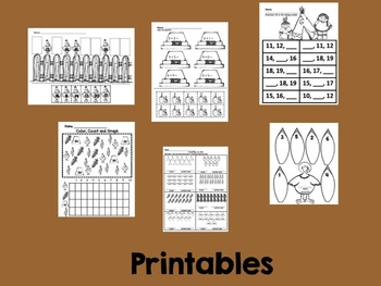 Kindergarten Thanksgiving Math Activities