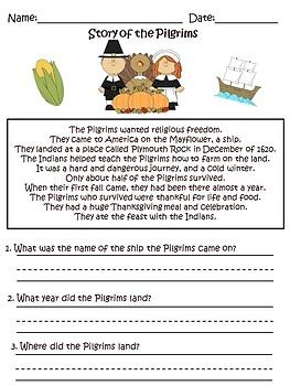 Kindergarten Thanksgiving Bundle