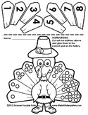 Kindergarten Thanksgiving Cut and Paste Numberlines