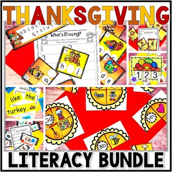 Kindergarten Thanksgiving Literacy Centers- 7 November Rea