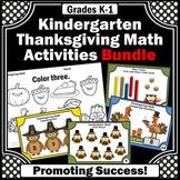 Kindergarten Thanksgiving Math Activities BUNDLE, Special Education Math