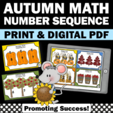 Kindergarten Thanksgiving Math Activities, Counting On from a Given Number