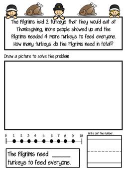 Kindergarten Thanksgiving Math Bundle!