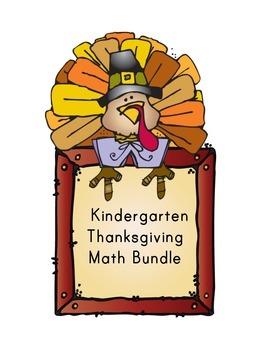 Kindergarten Thanksgiving Math Bundle- DJ Inkers Clipart