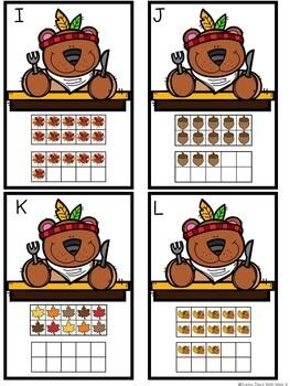 Kindergarten Thanksgiving Math Centers- 8 November Math Centers