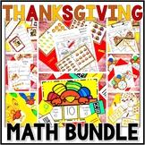 Kindergarten Thanksgiving Math Centers- 8 November Math Center Bundle