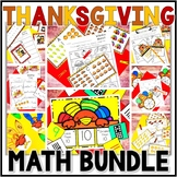 Kindergarten Thanksgiving Math Centers- 8 November Math Center Bundle