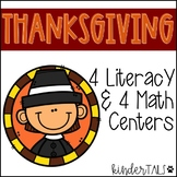 Kindergarten Thanksgiving Math and Literacy Centers