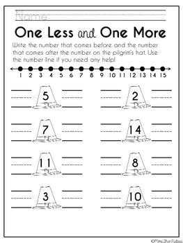 Kindergarten Thanksgiving Activities Packet