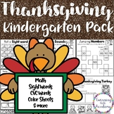 Kindergarten Thanksgiving Packet   No Prep   ELA & Math