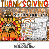 Kindergarten Thanksgiving Reading Center Games and Activities