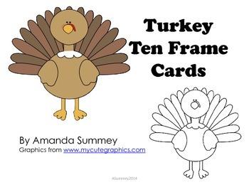 Kindergarten - Thanksgiving Themed - Turkey Ten Frames