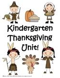 Kindergarten Thanksgiving Unit