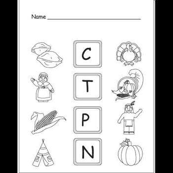 Kindergarten Thanksgiving Writing / Literacy Activities