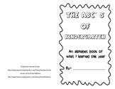 Kindergarten- The ABC's of What I Learned This Year- end of year book