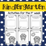 Kindergarten - The First Week