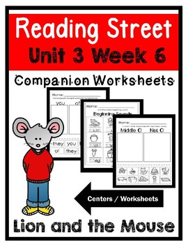 Kindergarten. The Lion and the Mouse. Unit 3 Week 6 Reading Street