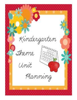 Kindergarten Theme Units for a Year - Freebie