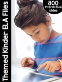 Kindergarten Themed Interactive ELA Files