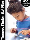 Kindergarten Themed Interactive ELA Files | DISTANCE LEARNING GOOGLE™ READY |