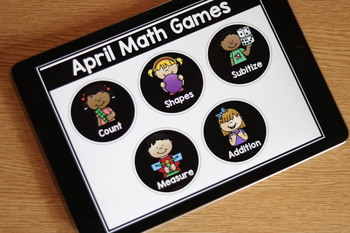 Kindergarten Themed Interactive MATH Files