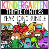 Kindergarten Math and Literacy Centers for the Year Bundle
