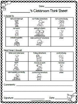 Good Behavior Worksheets For Kindergarten