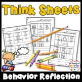Kindergarten Think Sheets For Behavior Reflection